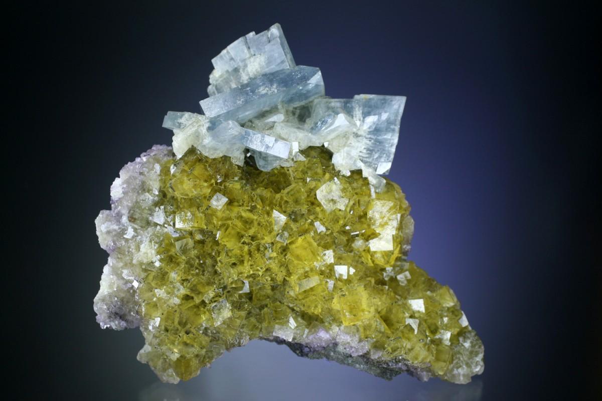 fine minerals - blue baryte