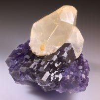 fine mineral - fluorite and calcite